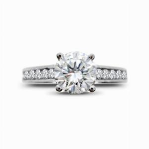 Brilliant Cut Single Stone Diamond Platinum Ring 1.01ct ESI1 GIA